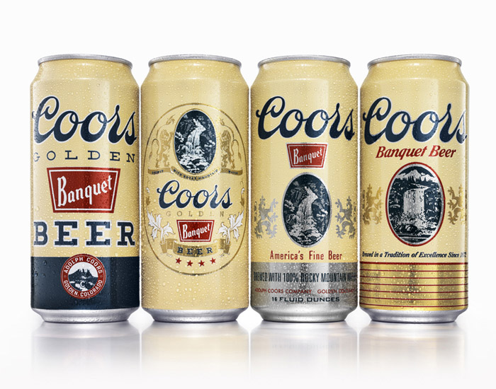 Coors Banquet heritage cans 2012_Packaging designed by Landor Associates