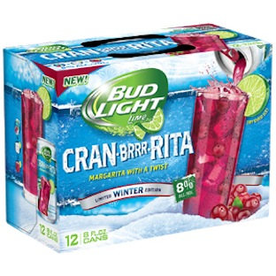 Photo: Bud Light Cran-ber-Rita, a special winter flavoured edition