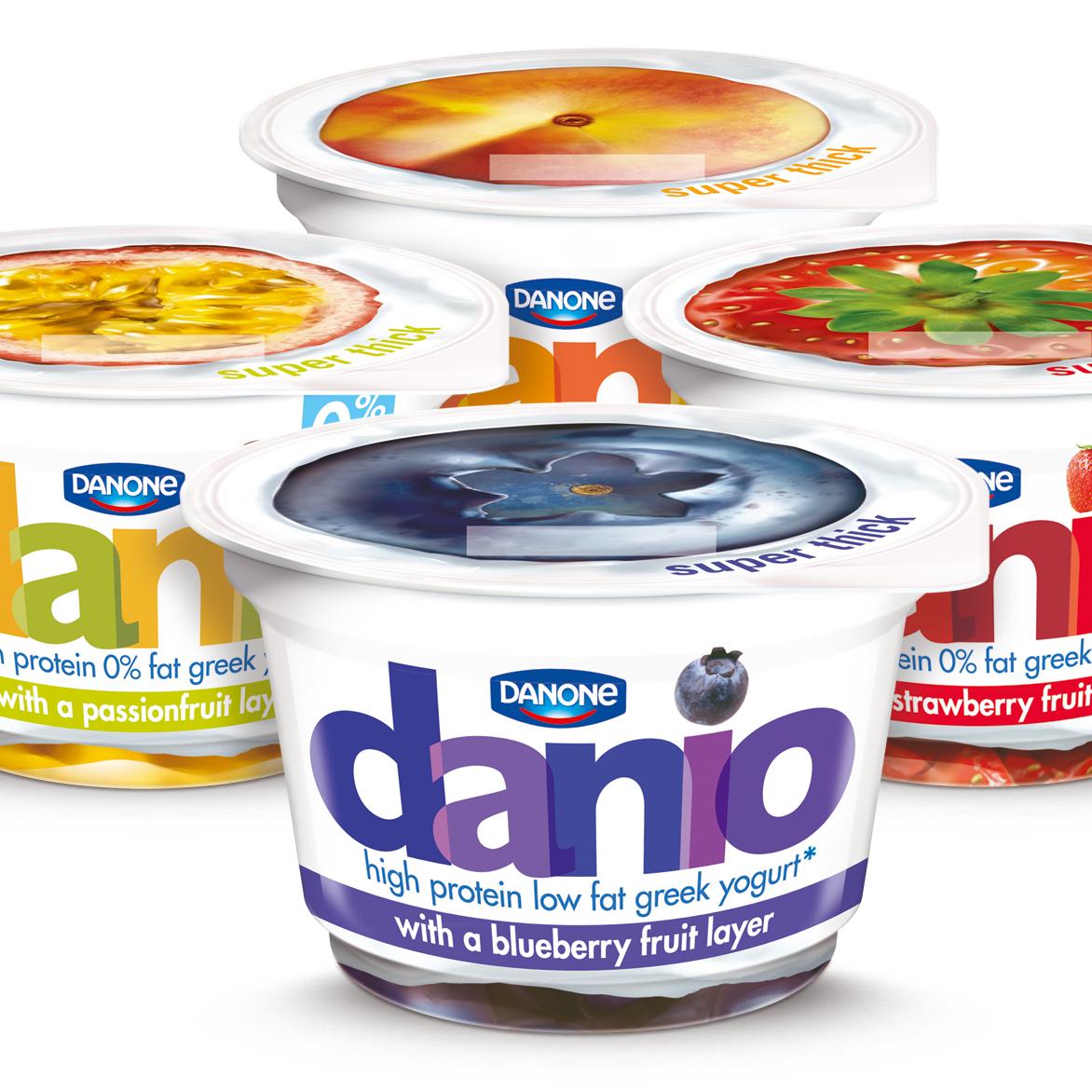 Danone UK Introduces New Yogurt Brand Danio With Packaging