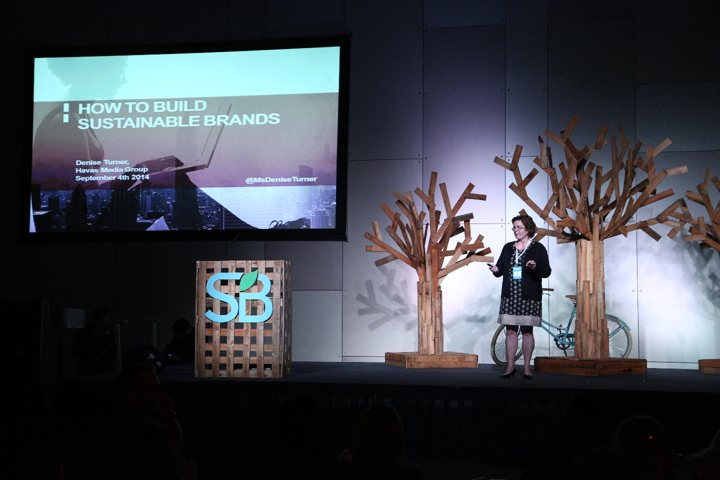 Photo: Denise Turner from Havas Media speaking at SB Buenos Aires  2014
