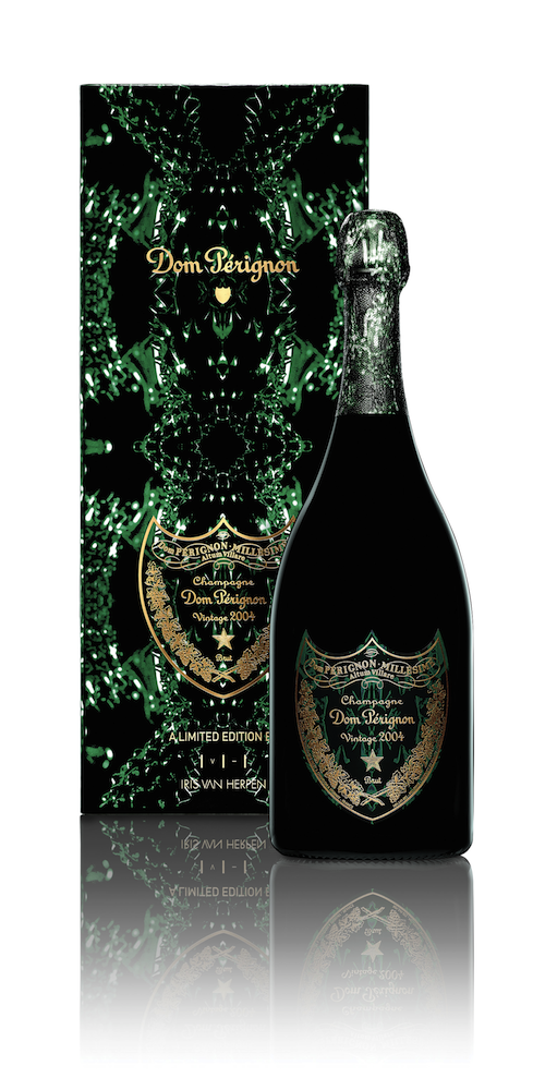 Photo: limited-edition package design for Dom Pérignon Vintage 2004, designed by van Harpen