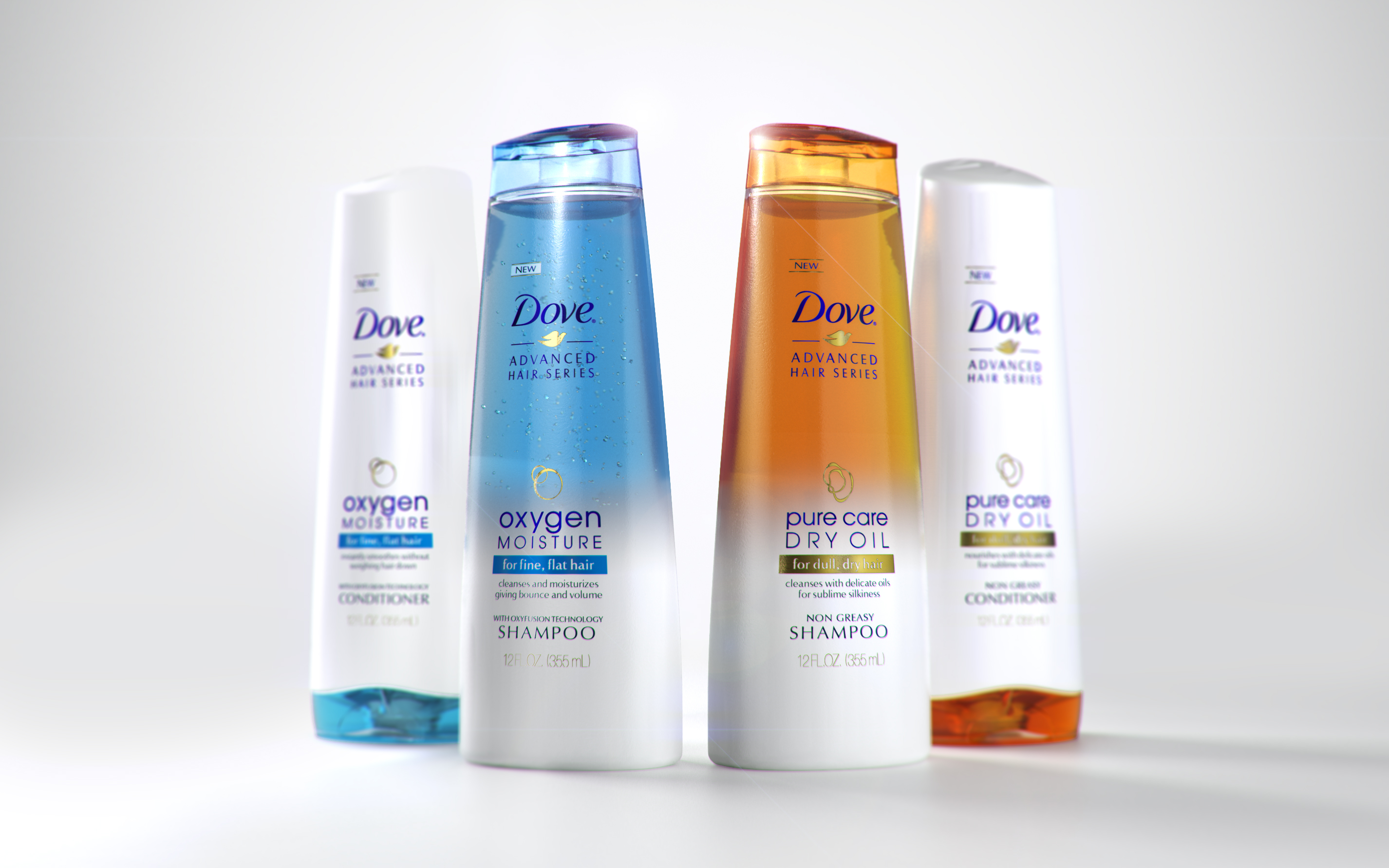 Photo: New Dove's premium hair care range in the US