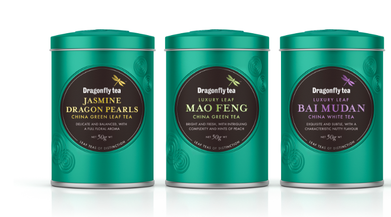 Photo: new packaging design for Dragonfly specialty tea range