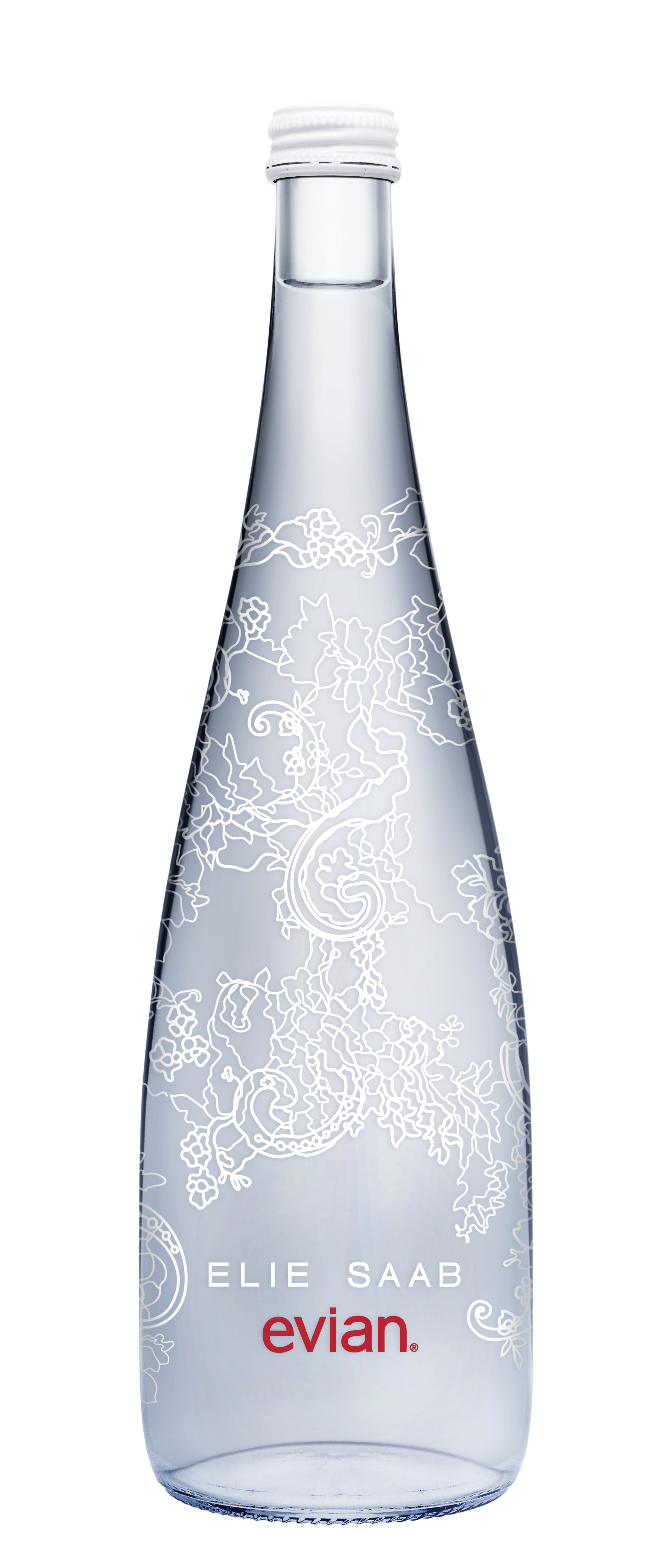 Photo: Evian limited edition bottle by Elie Saab