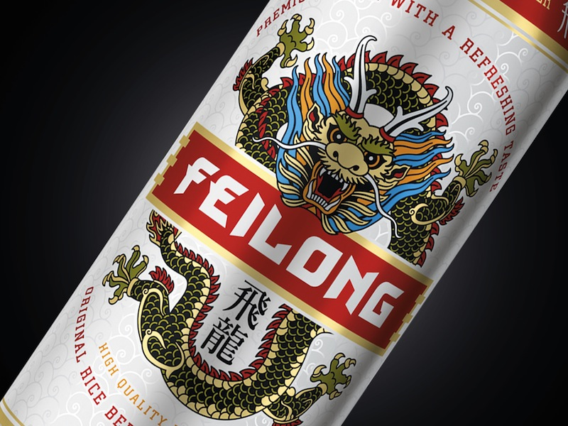 Photo: Heineken Russia's new brand of rice beer Feilong