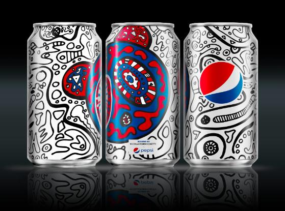 Photo: Pepsi Challenge unique can design by Nicola Formichetti