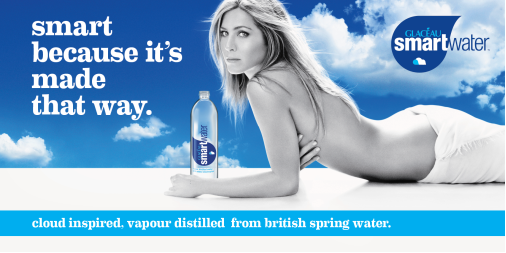 Photo: Jennifer Anniston is the spokesperson for glaceau smart water in both UK and US