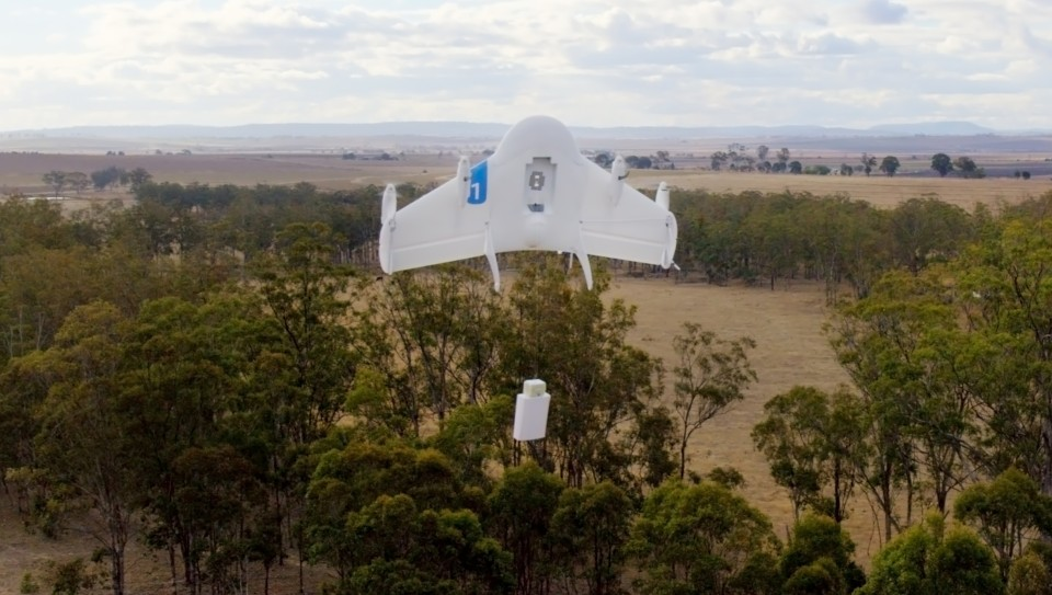 Photo: Google's drone, photo credit: engaget.com