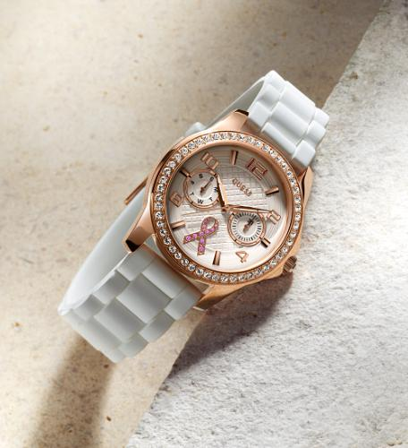 "Photo: ""Sparkling Pink"" Special Edition breast cancer watch by Guess"