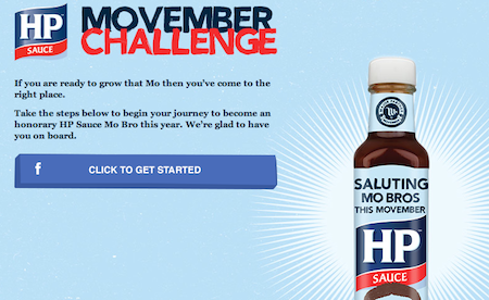 Pic. a screenshot from the HP Sauces Facebook app page