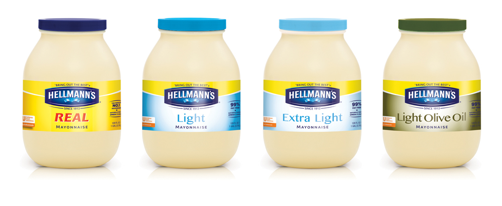 Pic.: Hellman's mayonnaise, new packaging