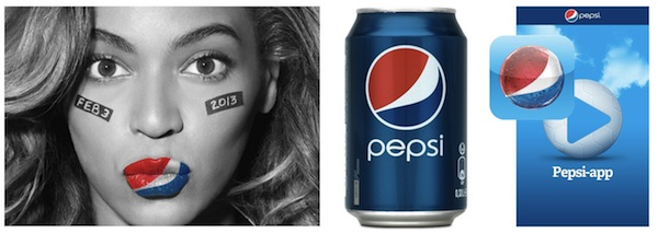 Pic.: Pepsi uses its globe-icon consistently throughout all brand expressions: advertising, on pack, on its smart phone tiles