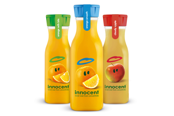 "Photo: Innocent juices ""OTG"" range in carafes"