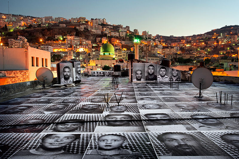 Photo: Inside Out Project Group Action, in Yalla, Israel