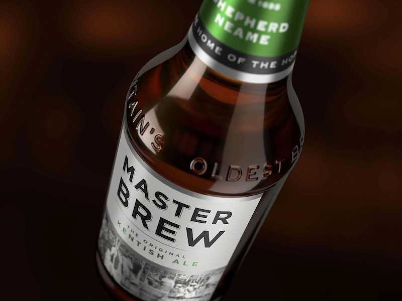 Photo: Master Brew ale's packaging design