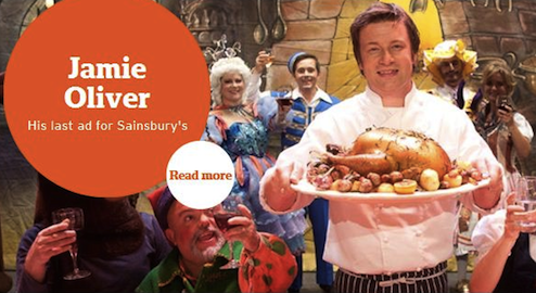 Photo: the last Jamie Oliver's ad for Sainsbury's