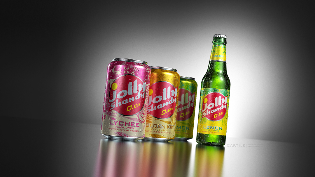 Photo: redesign of the Jolly Shandy packaging