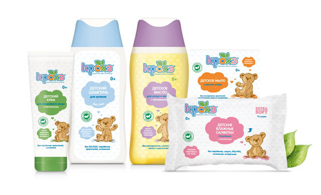Pic.: Krokha baby care product range
