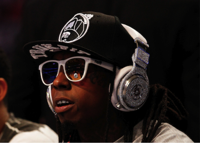 Photo:  Luxurious Lil Wayne's Diamond Beats worth $1 mln