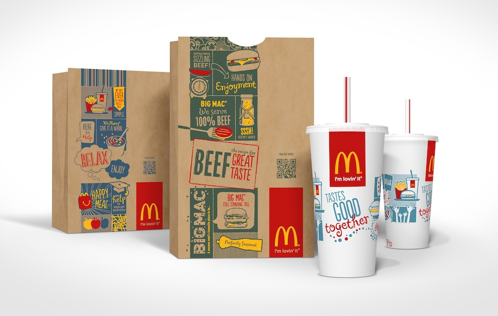 Photo: McDonal's new QR-coded global packaging