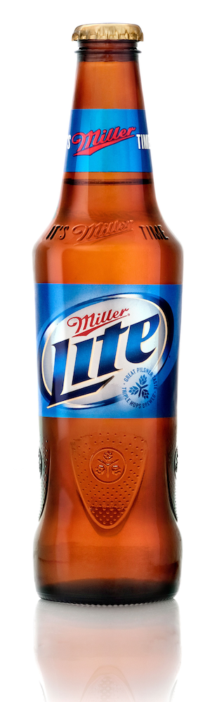 Photo: New Miller Lite bottle creatures broader shoulders and a recognizable long neck