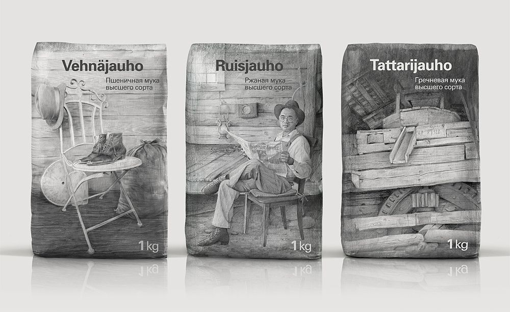"Photo: new Finnish brand of flour, called ""1928"""