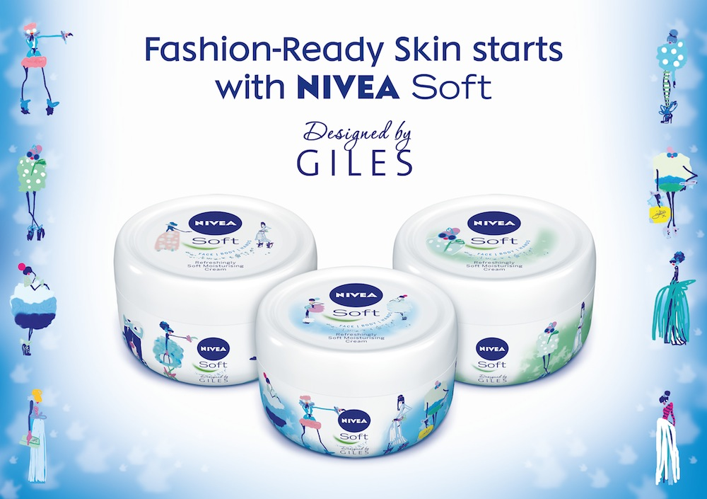 Photo: NIVEA Soft limited-edition pods designed by Giles Deacon for LFW 2013