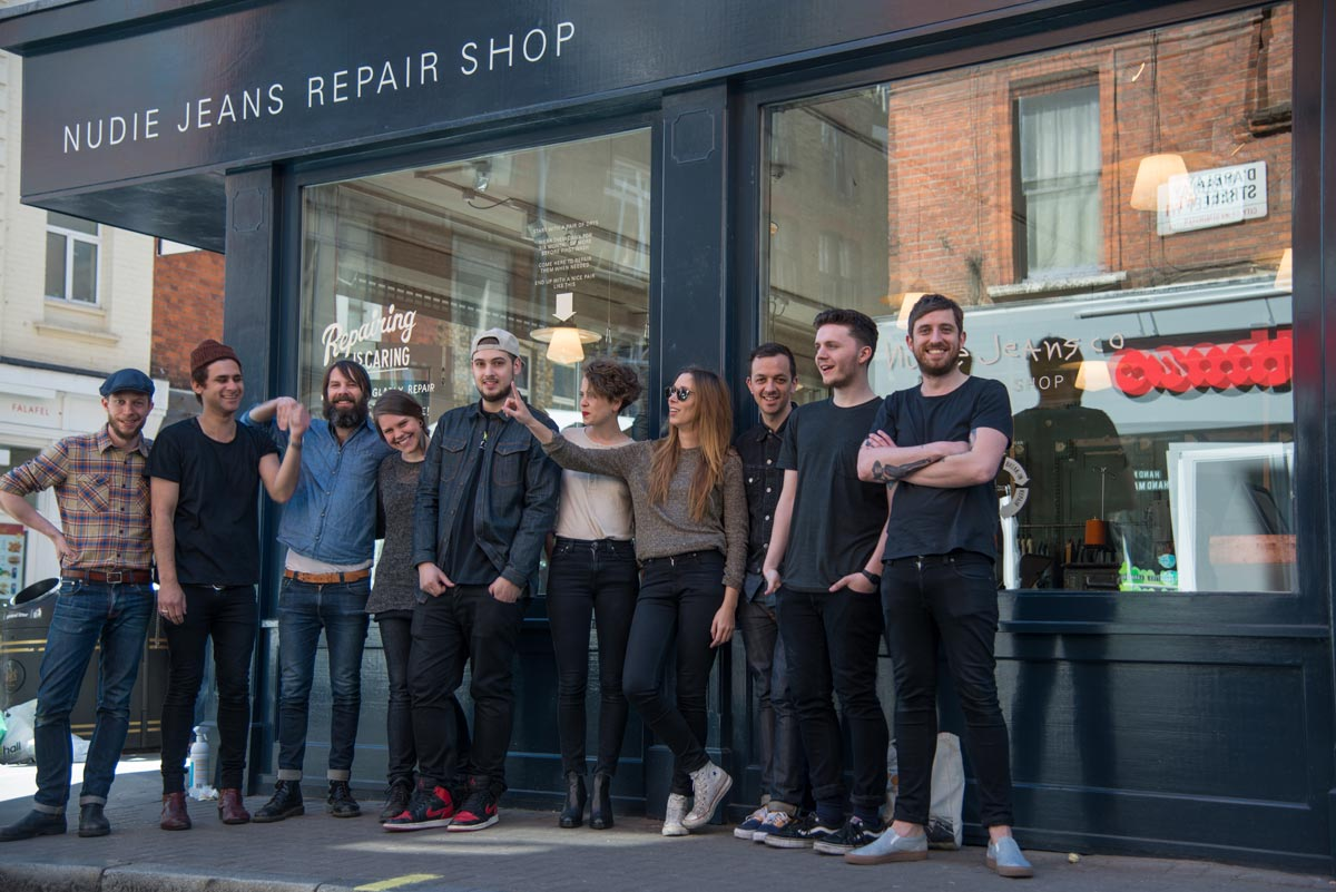 Photo: Nudie Jeans repair shop in Soho, London