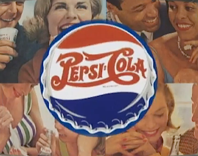 "Pic.: a collage of the Pepsi-Cola ""Come Alive"" advert"