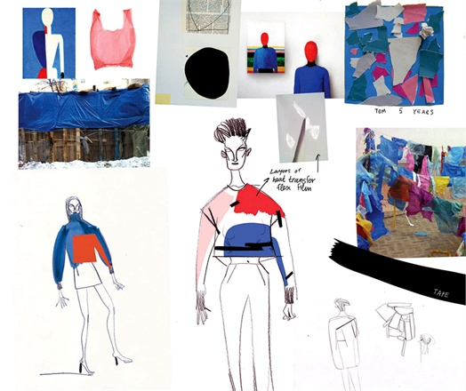 Photo: Masha Reva's sketches for men's and women's sweatshirts for Pepsi's collection