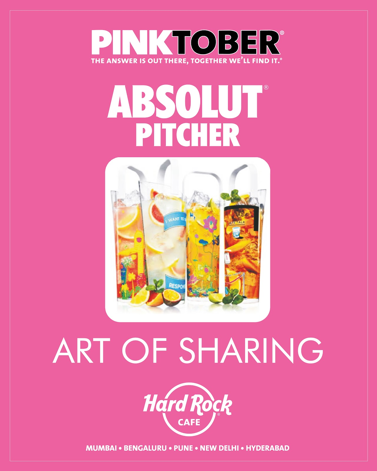 Photo: Hard Rock's promotion of PINKTOBER-themed alcoholic cocktails