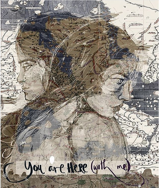 """You are here (with me)"" by Fearless, instagram.com"