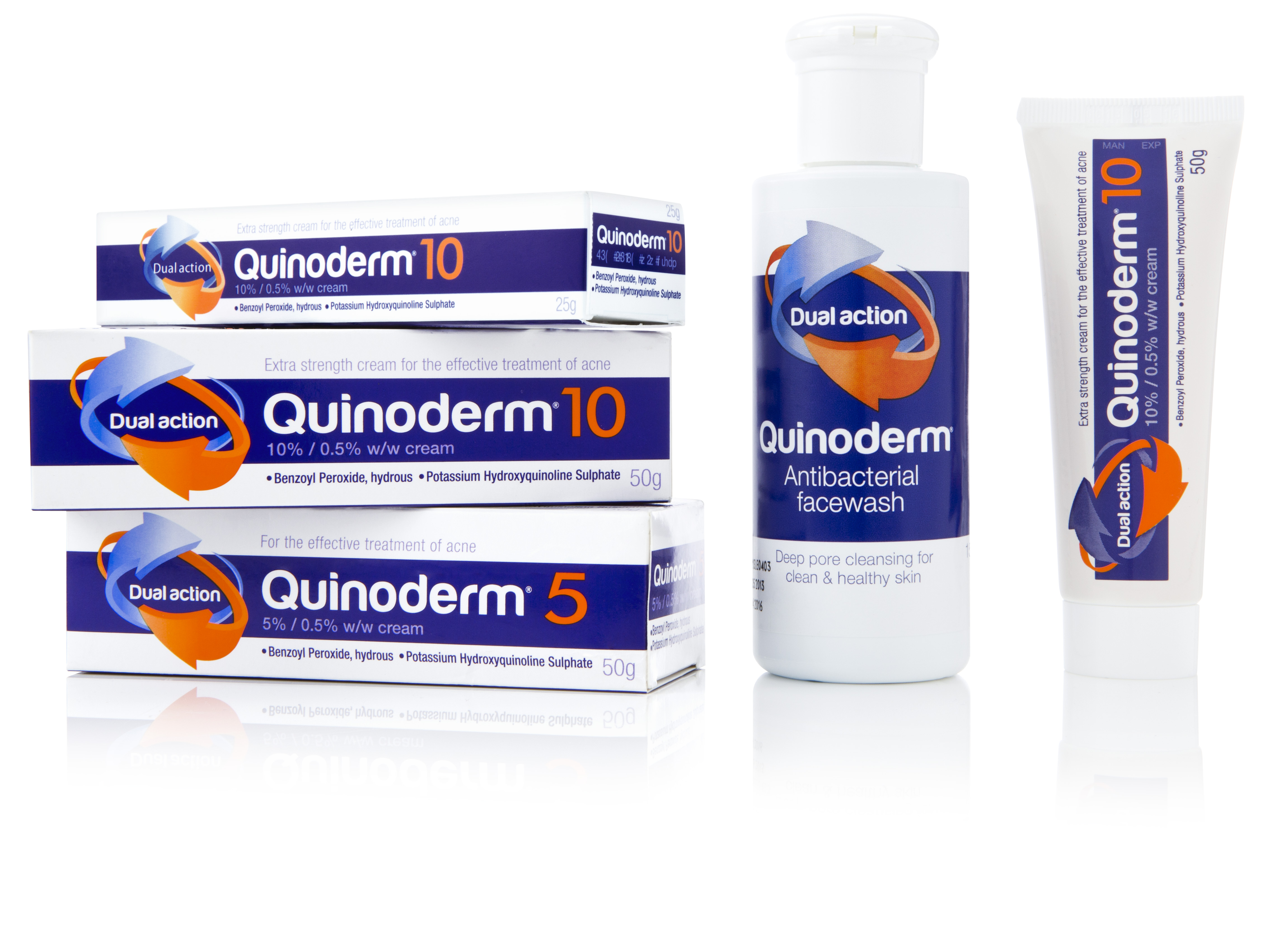 Photo: Packaging for the Quinoderm acne treatment