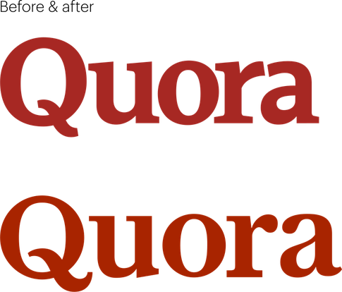 Quora old and new logo