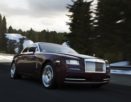 "Photo: Roll Royce allows younger audience to virtually ""drive"" a luxury car through an Xbox video game"