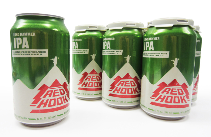 Photo: Redhook 6-packs emphasize the brewery first