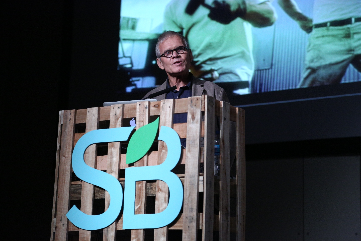 Photo: Rick Ridgeway of Patagonia speaking at SB Buenos Aires 2014