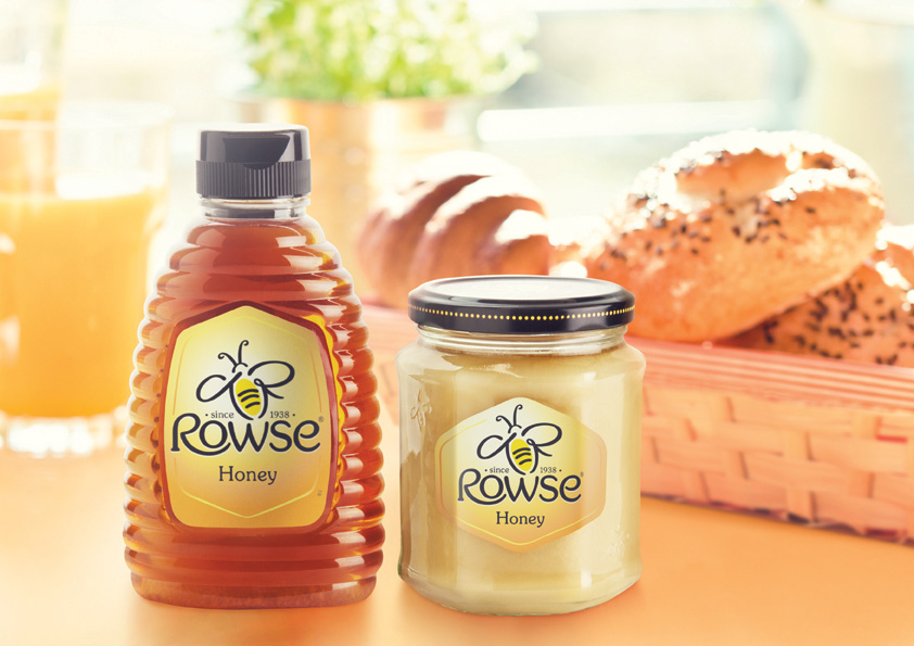 Photo: new package design of Rowse honey, 2014