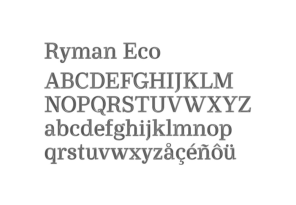 Ryman Eco Font _all alphabet