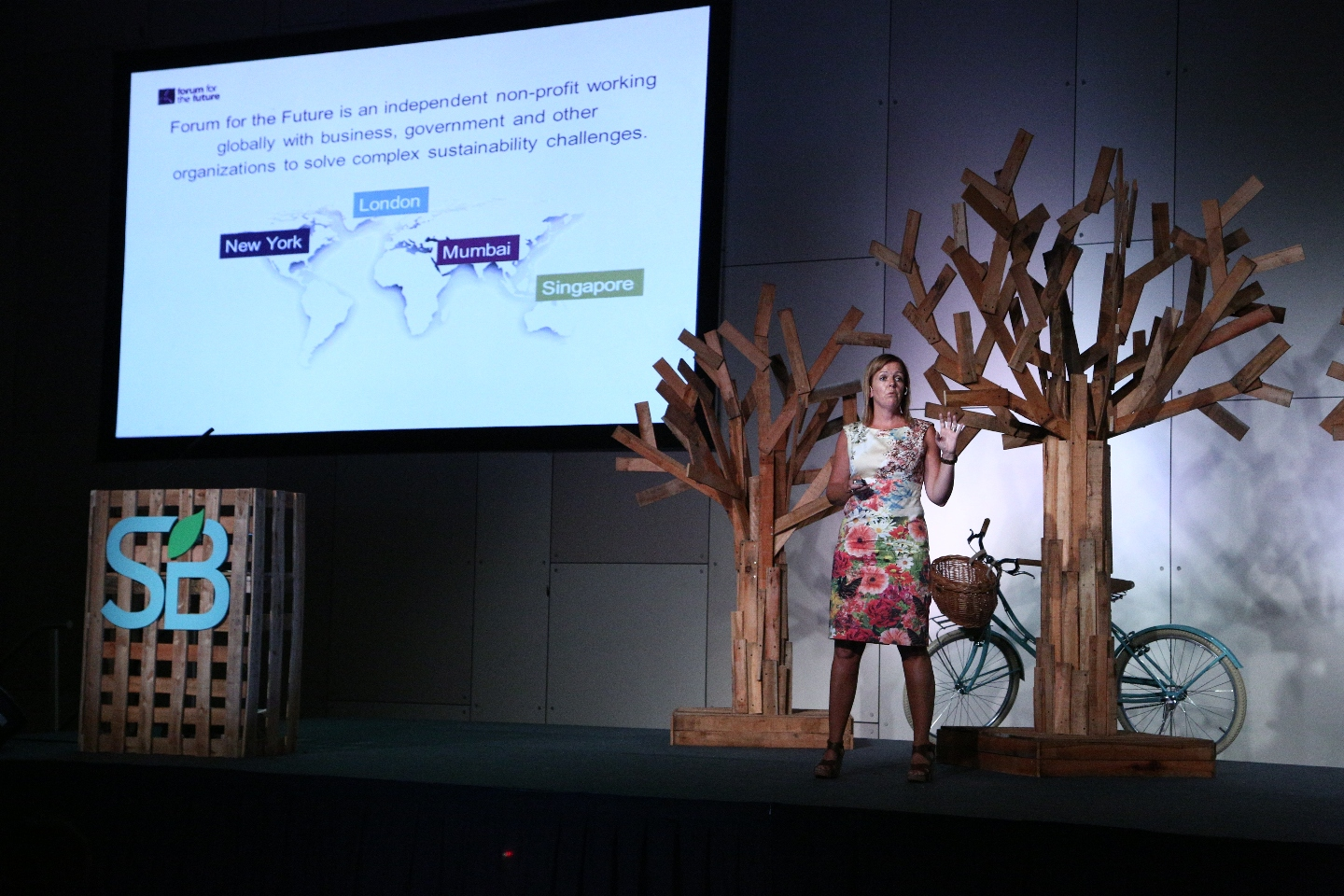 Photo: Sally Uren of Forum for the Future speaking at SB Buenos Aires  2014