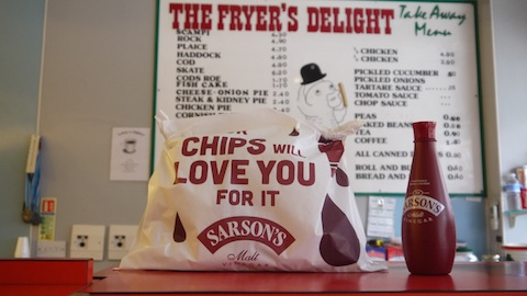 Photo:  Sarson's branded chip bag for the Chip Week, February 2014