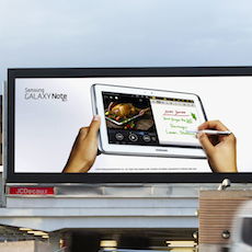 Samsung Tries Digital OOH Advertising for the First Time —on London's Cromwell Road Digital Gateway
