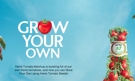 "Pic.: a screen shot from the Heinz Facebook app ""Grow Your Own"""