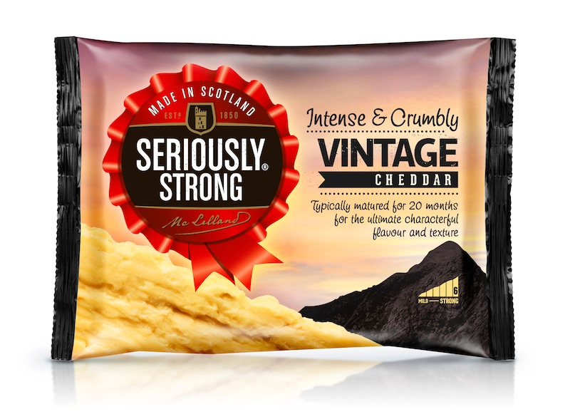 Photo: new package design for Seriously Strong cheese range