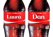 Photo: Share a Coke: personalised bottles with names