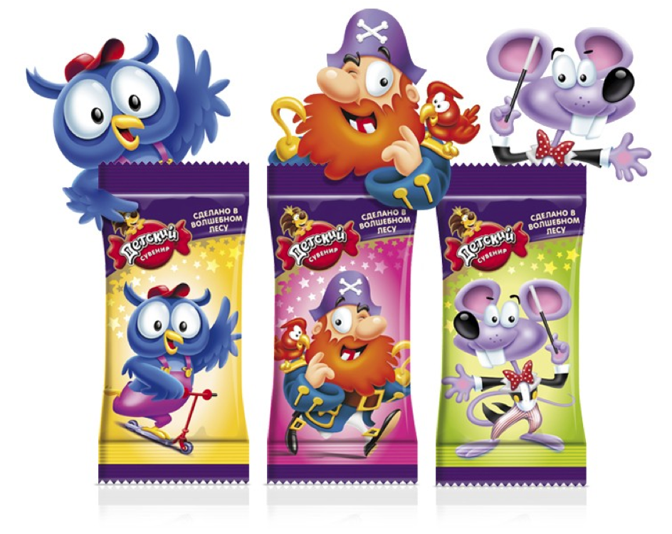 Pic. Slavyanka's mini chocolate bars for kids