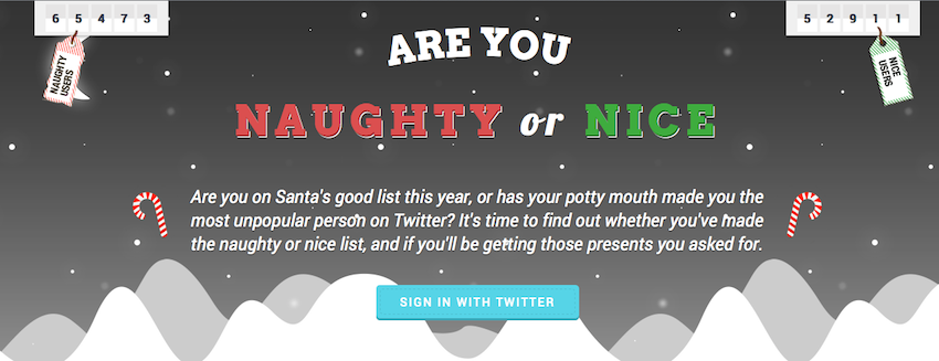Pic.: A screenshot from the Socil Santa site's homepage