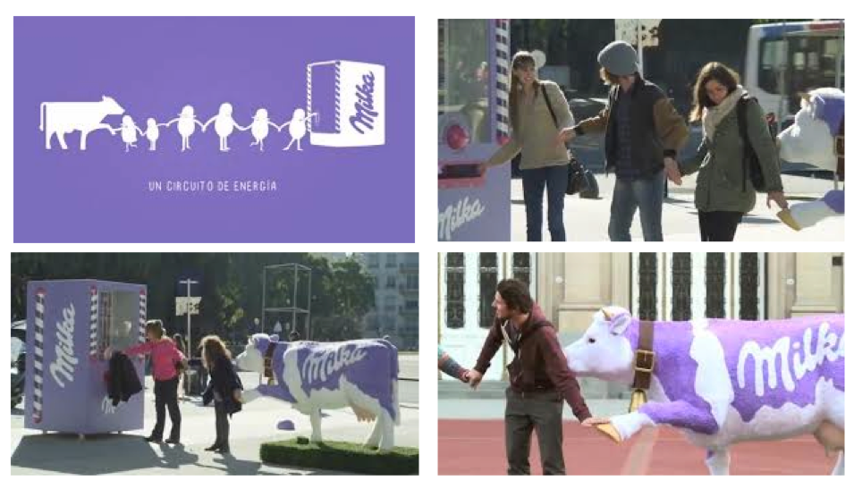 Pic.: Milka vending machine
