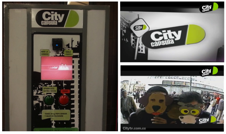 "Pic.: ""City Cápsula"", a vending machine that records video"
