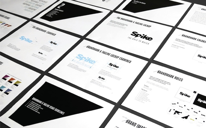 Photo: Spike visual identity
